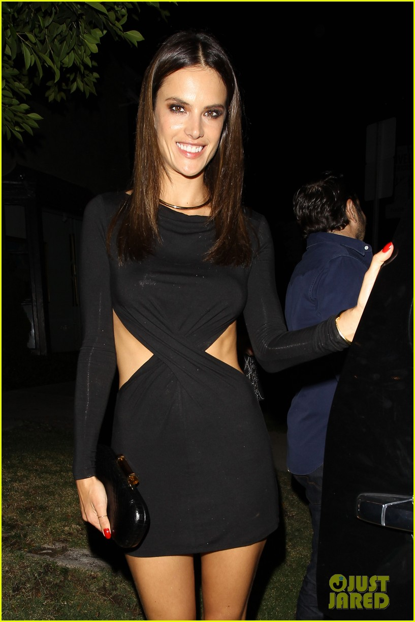 alessandra ambrosio sexy cut out dress 33rd birthday 243088972
