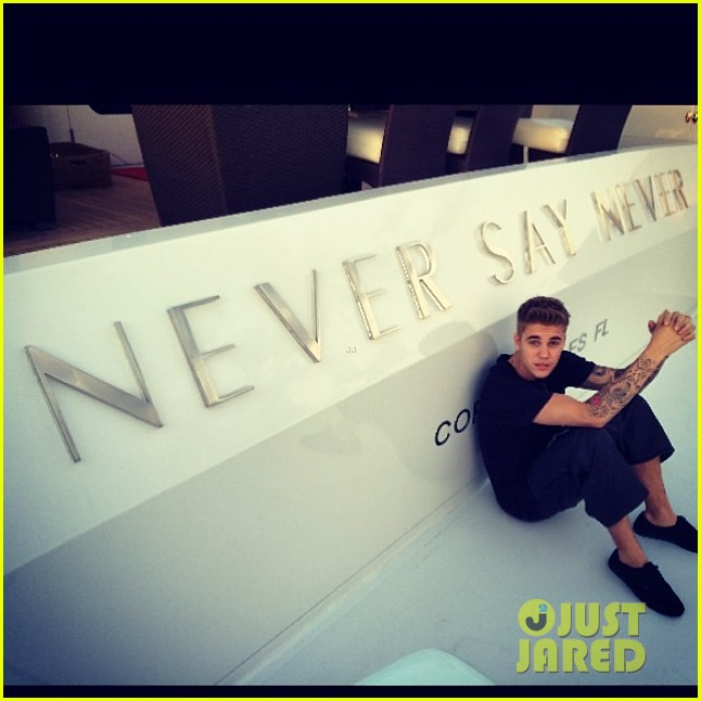 justin bieber poses shirtless on new yacht he reportedly named never say never 02