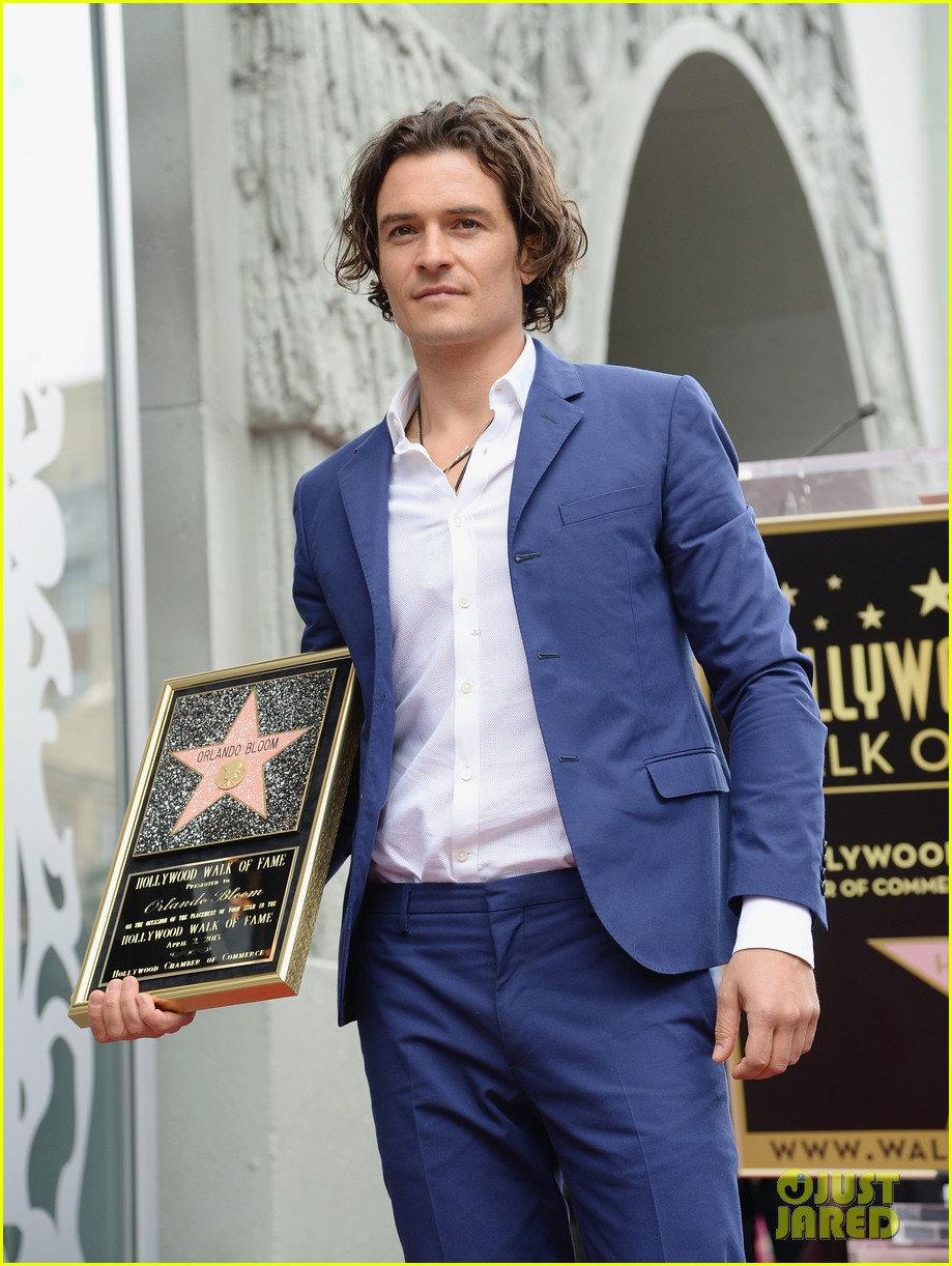 orlando bloom receives star on hollywood walk of fame 02