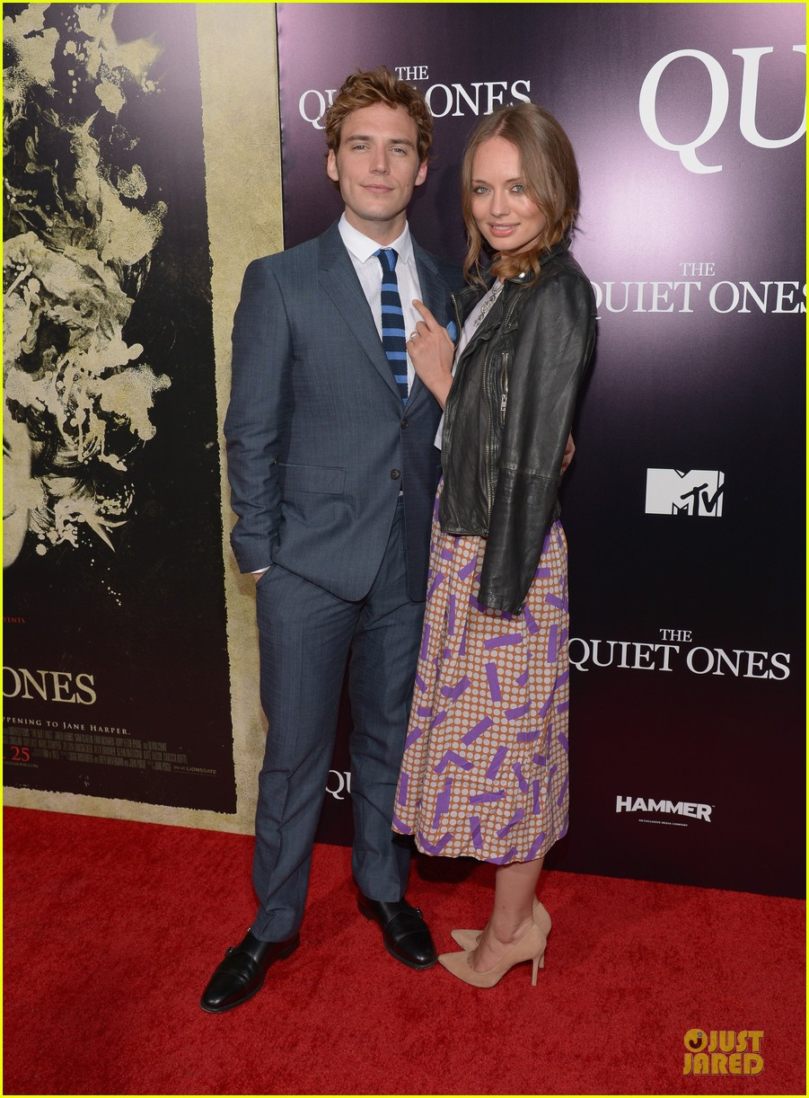 sam claflin laura haddock the quiet ones premiere 013097141