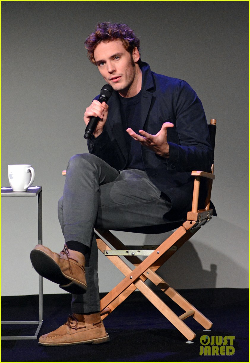 sam claflin promotes the quiet ones at his meet the actors session in nyc 033093274