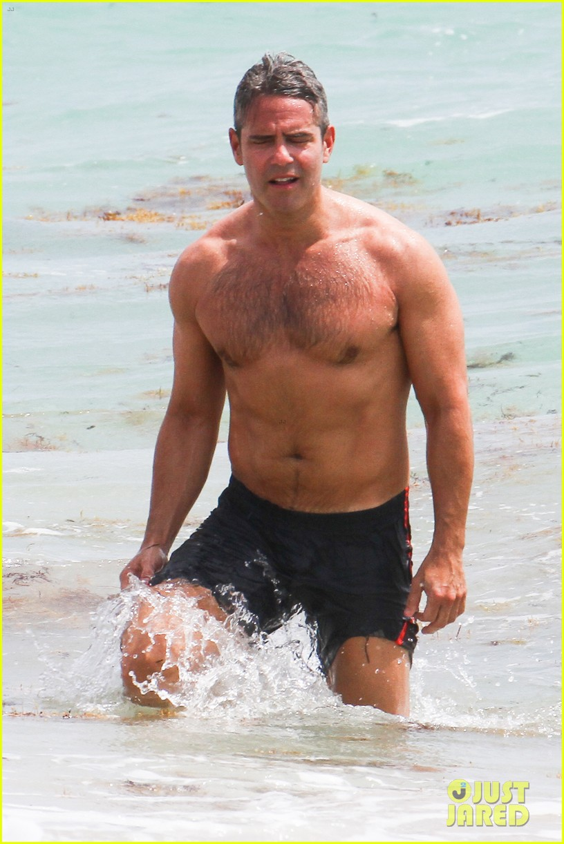 andy cohen shirtless uses tinder 10