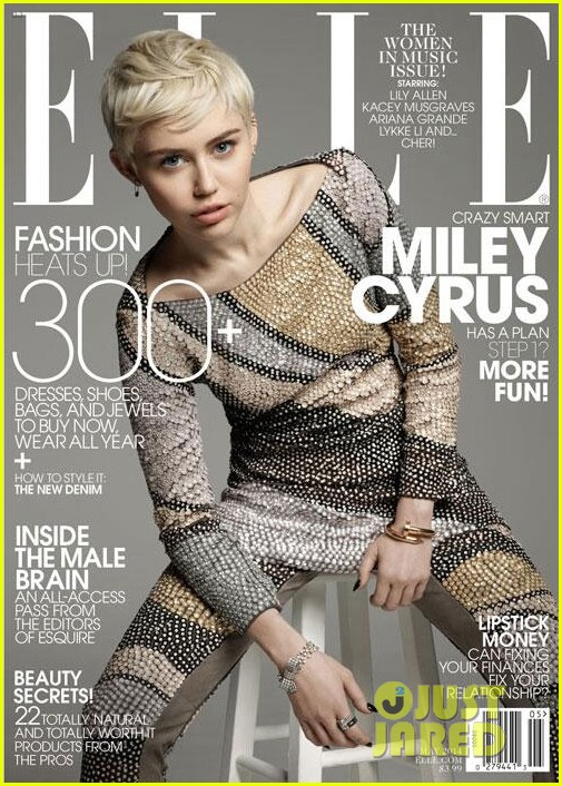 miley cyrus covers elle may 2014