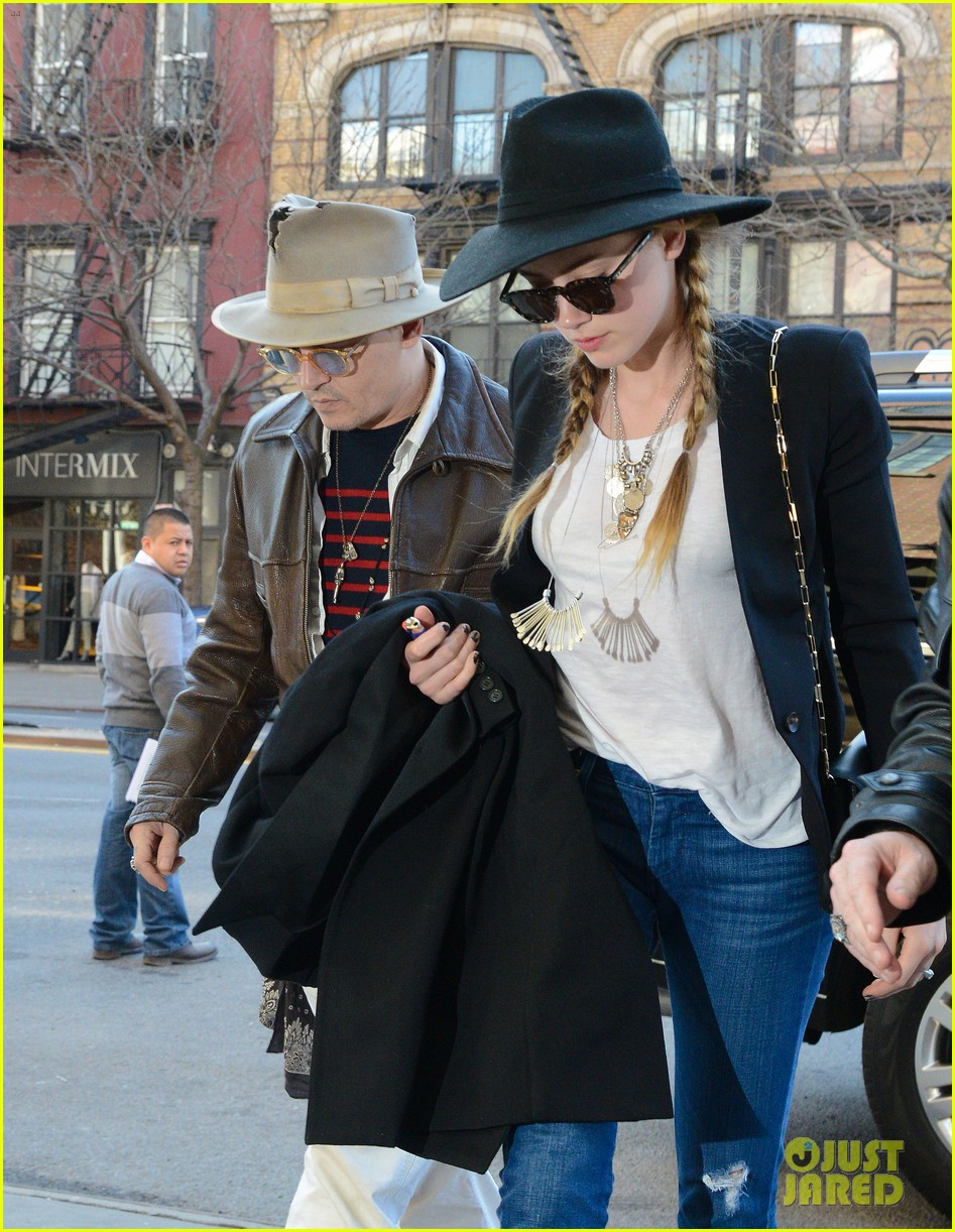 johnny depp amber heard step out together new york 04