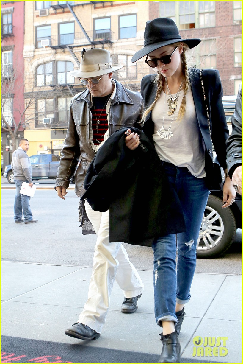 johnny depp amber heard step out together new york 08