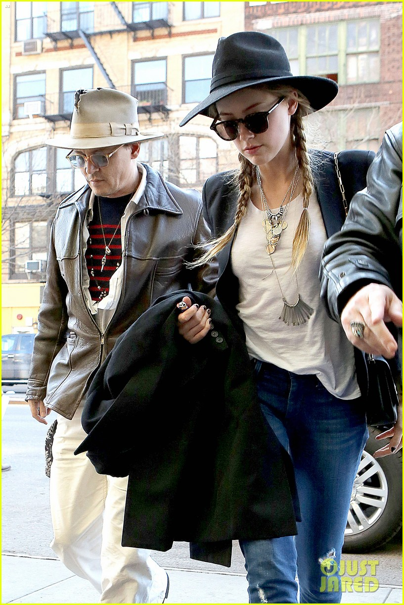 johnny depp amber heard step out together new york 09