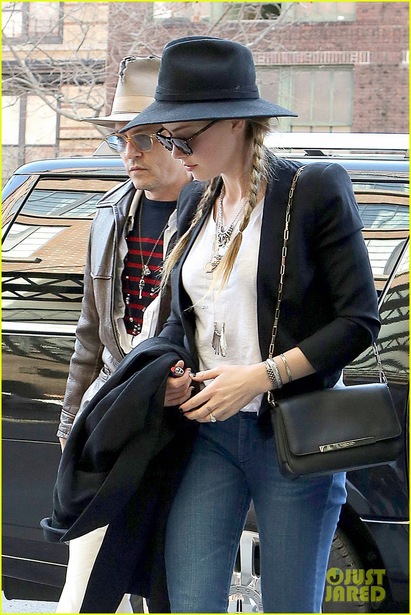 johnny depp amber heard step out together new york 113096357