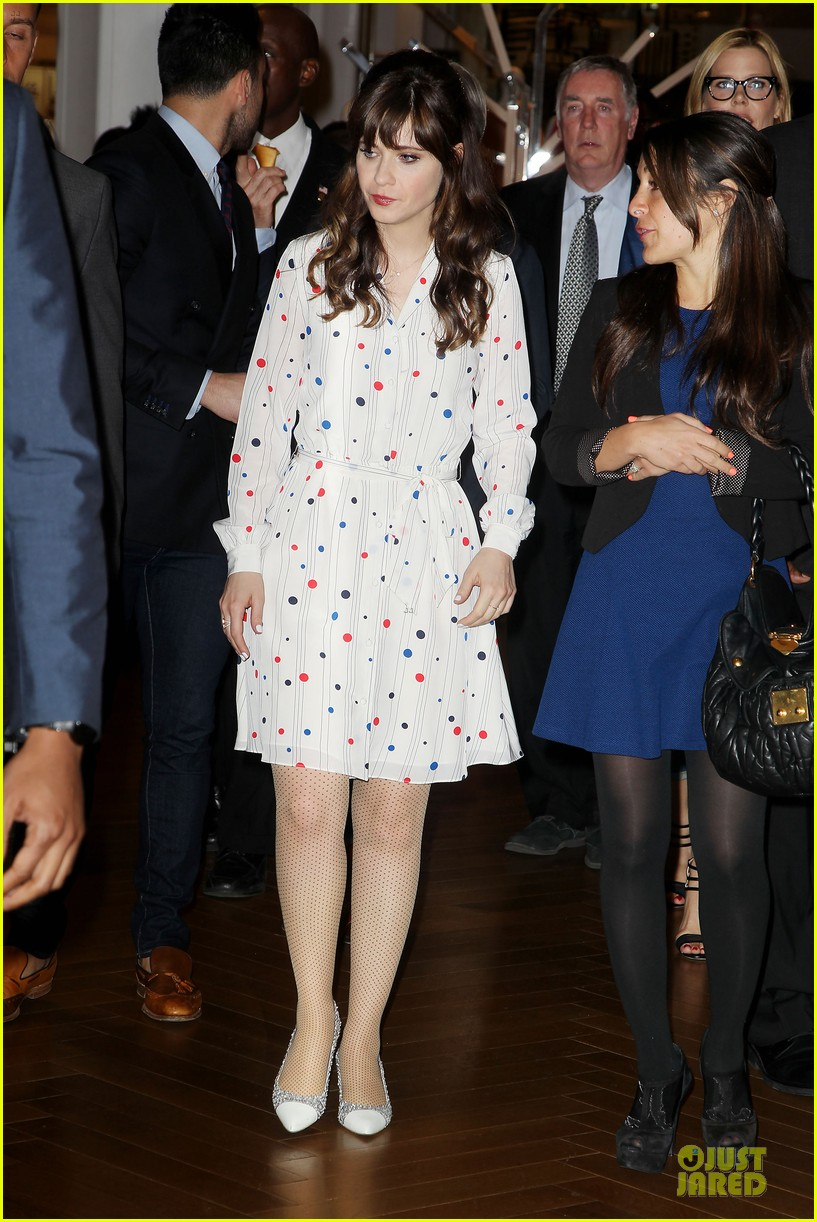 zooey deschanel tommy hilfiger collection launch 12