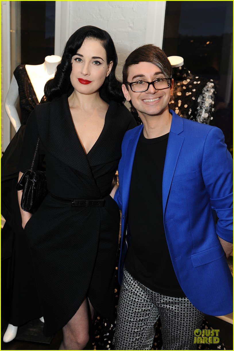 dita von teese glamour at christian siriano preview 04
