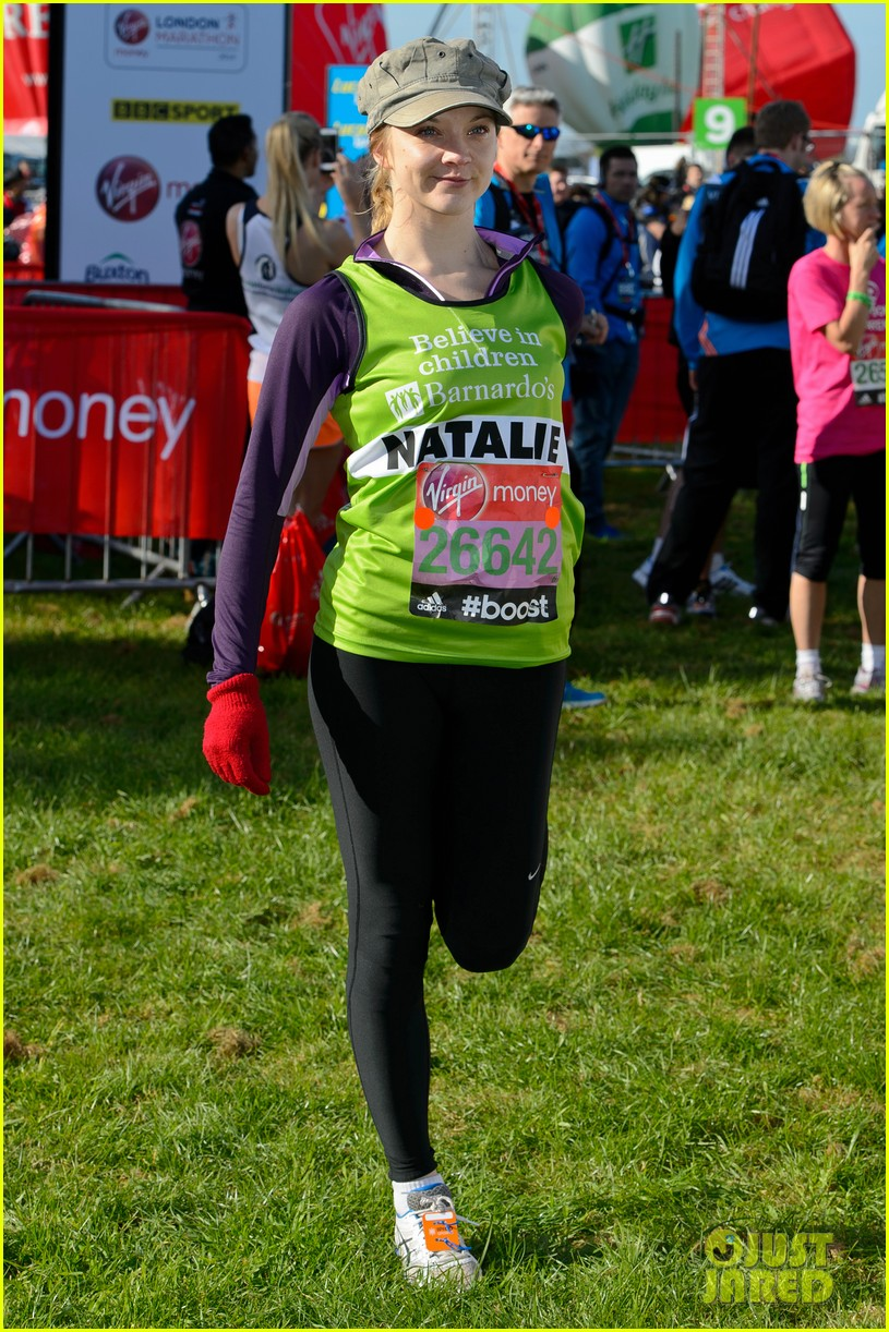 natalie dormer runs london marathon for charity 013090960