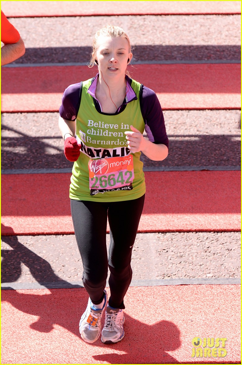 natalie dormer runs london marathon for charity 053090964