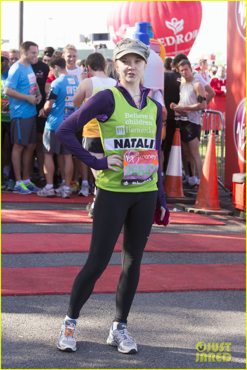 natalie dormer runs london marathon for charity 073090966