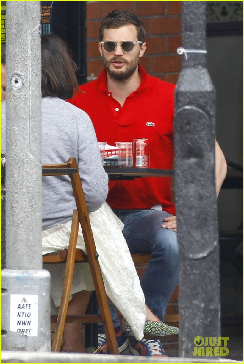 jamie dornan treats his wife to lunch in london 133093860