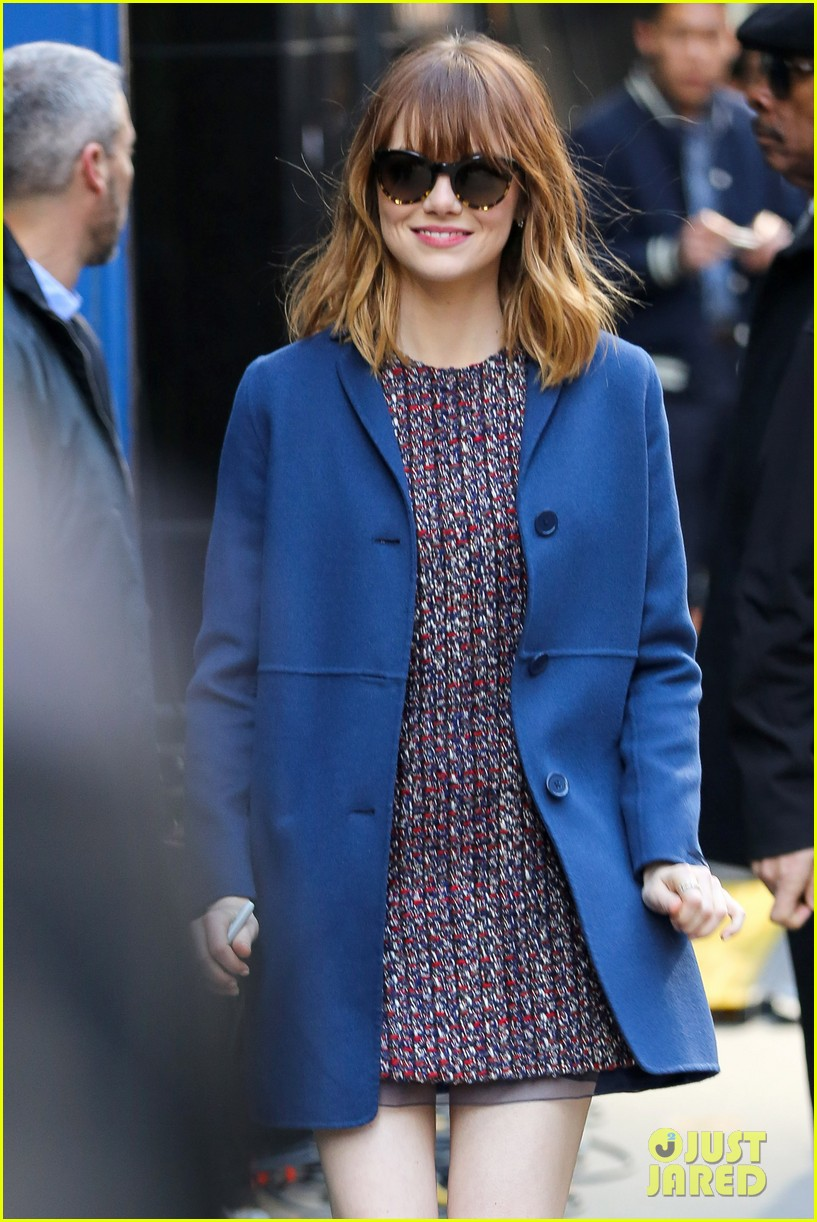 emma stone andrew garfield join amazing spider man 2 cast at gma 06