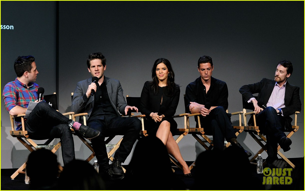 america ferrera husband ryan piers williams meet the actors session in nyc 023098141