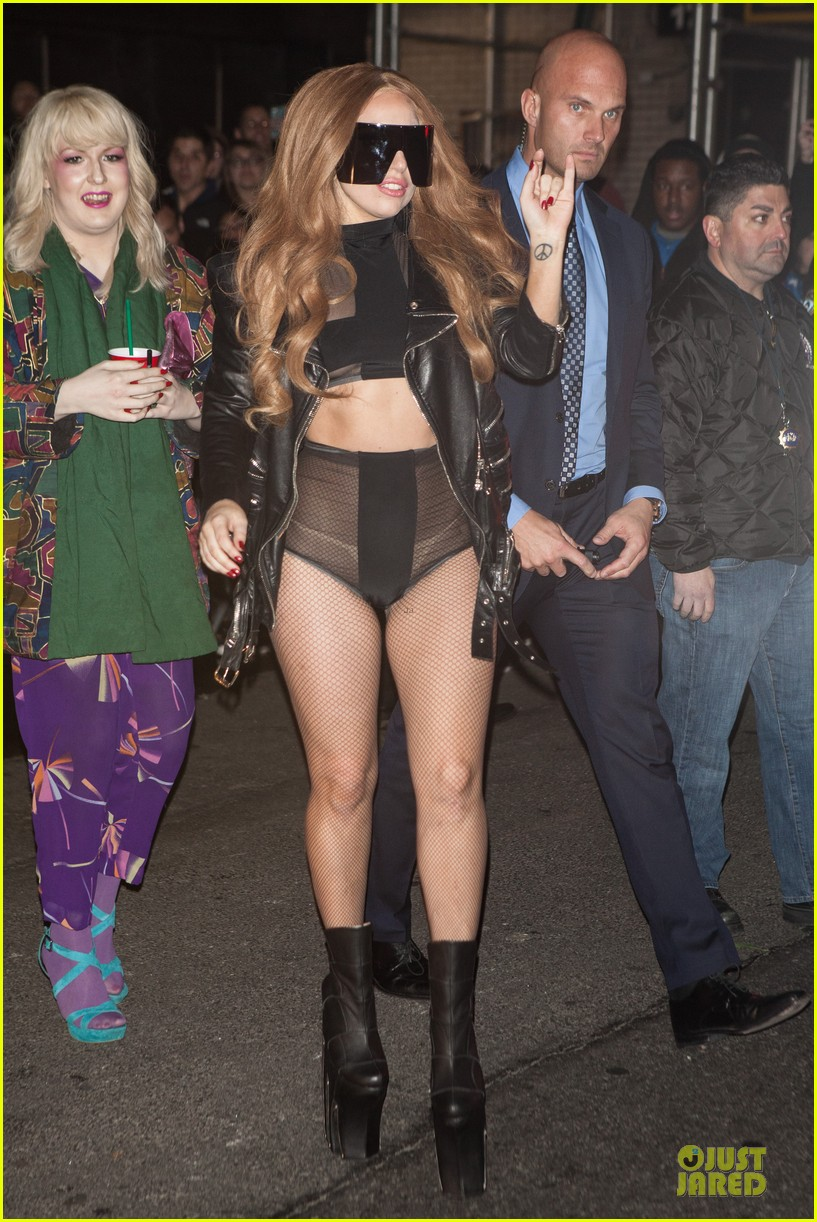 lady gaga revealing high waisted outfit 083082615