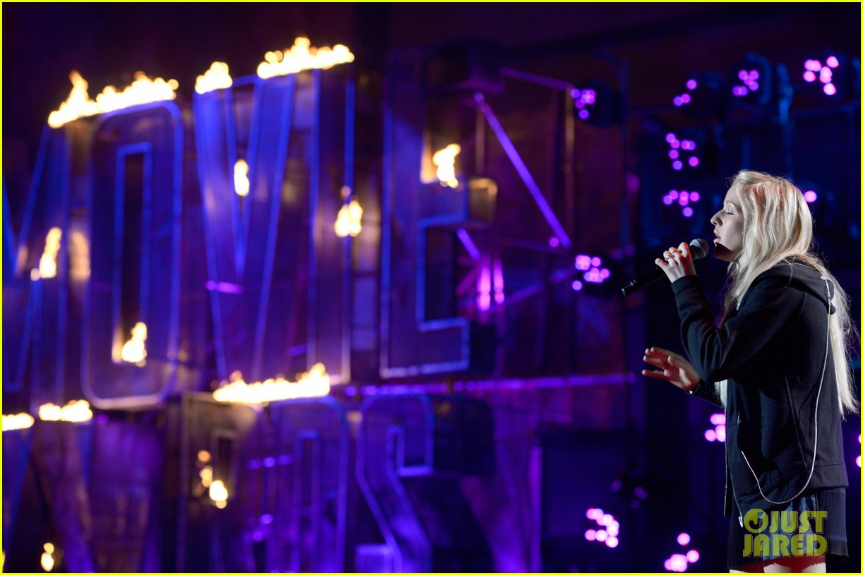 mtv movie awards 2014 conan obrien ellie goulding rehearse 13