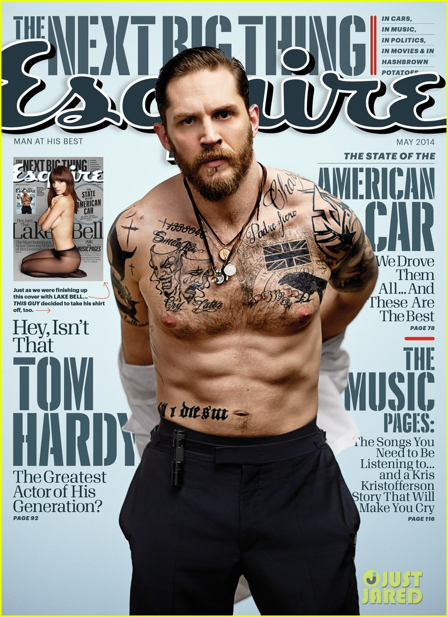 tom hardy strips down shirtless for esquire 02
