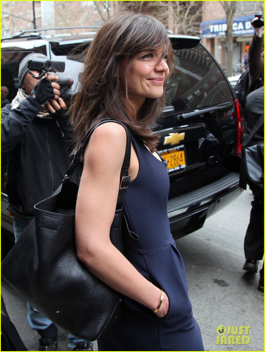 katie holmes paul wesley help kick off tribeca film fest 12
