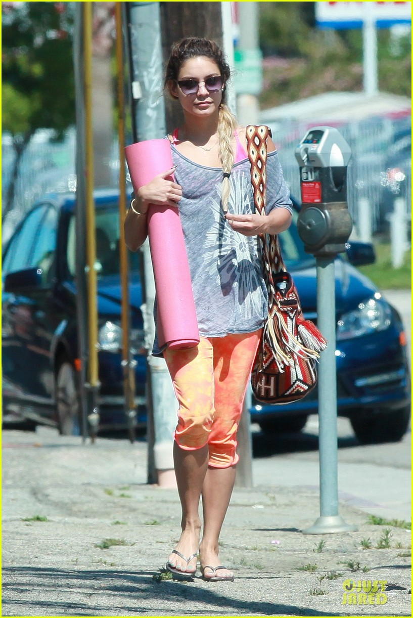 vanessa hudgens braids for yoga session 113099763