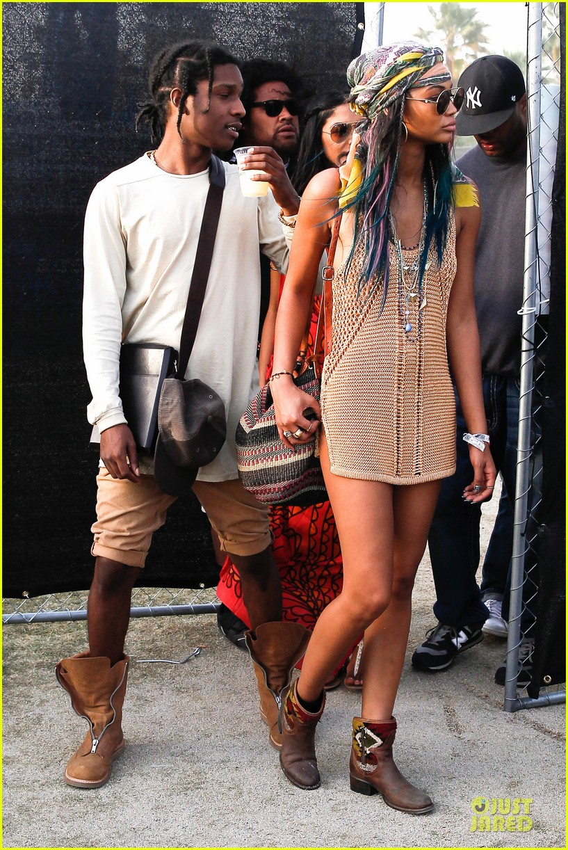 chanel iman asap rocky relaxes at coachella 093092477