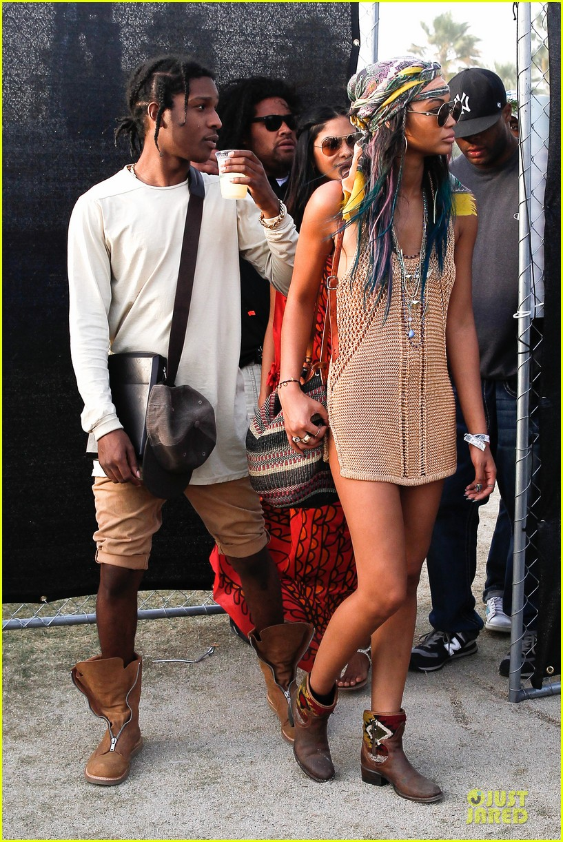 chanel iman asap rocky relaxes at coachella 103092478