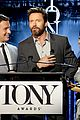 hugh jackman surprises jonathan groff lucy liu at tony awards announcements 10
