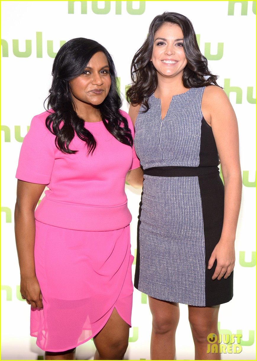 mindy kaling gillian jacobs hulu upfronts 04