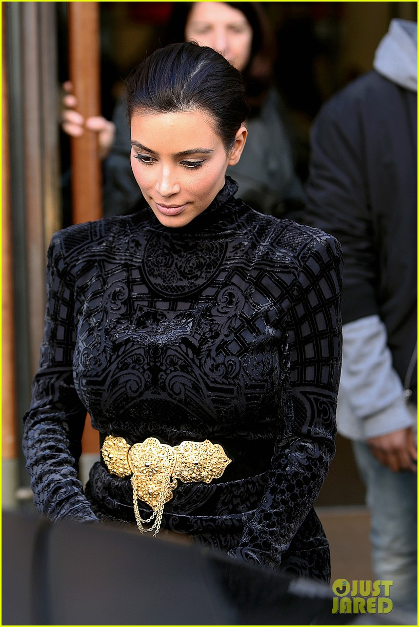 kim kardashian changes into two different dresses 073091982