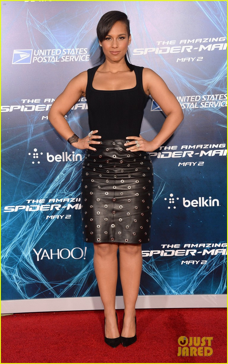 alicia keys pharrell williams amazing spider man 2 premiere 12