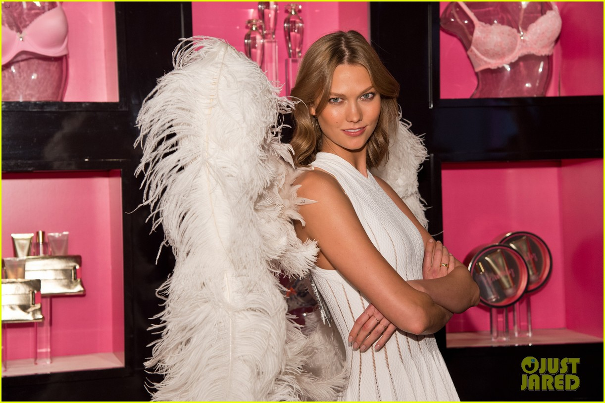 karlie kloss spreads her wings at victorias secret heavenly launch 103102217