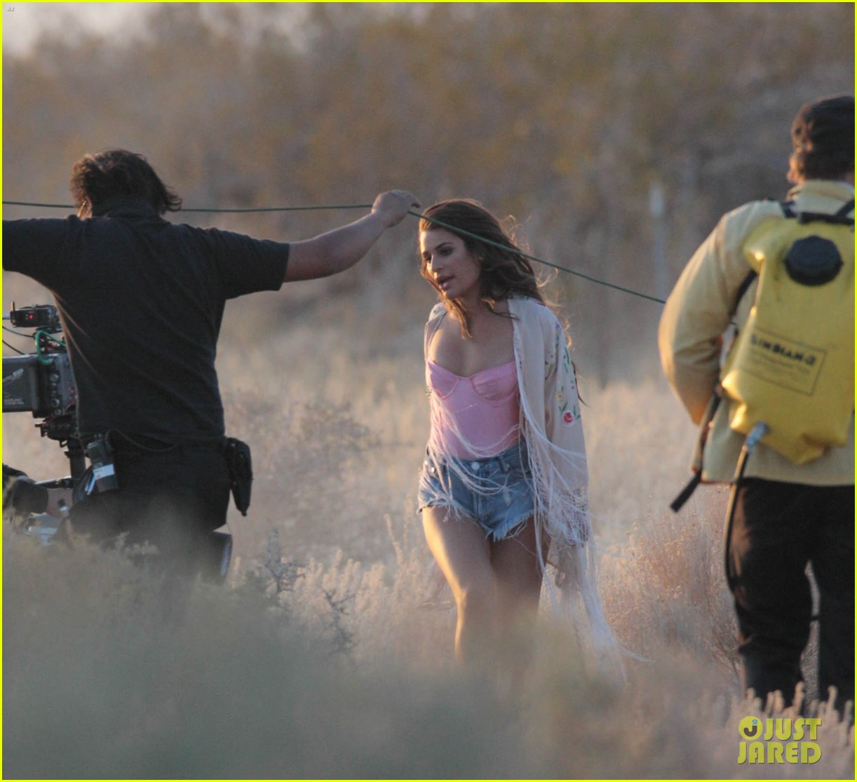lea michele cozy co star music video set 18