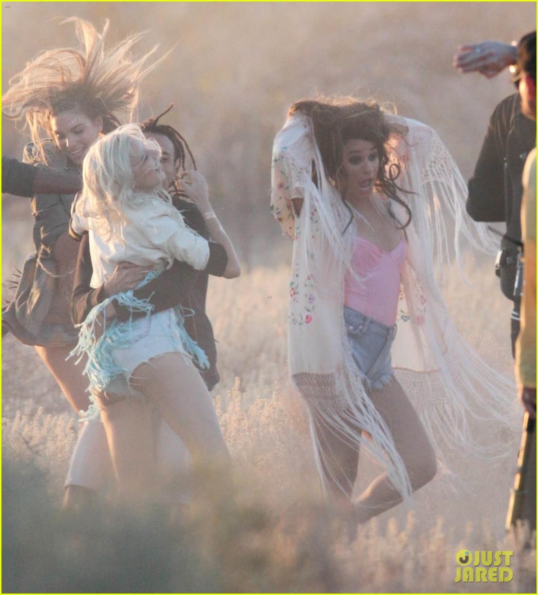 lea michele cozy co star music video set 29
