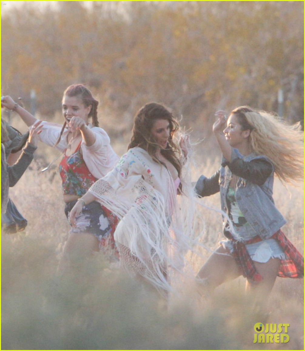 lea michele cozy co star music video set 35