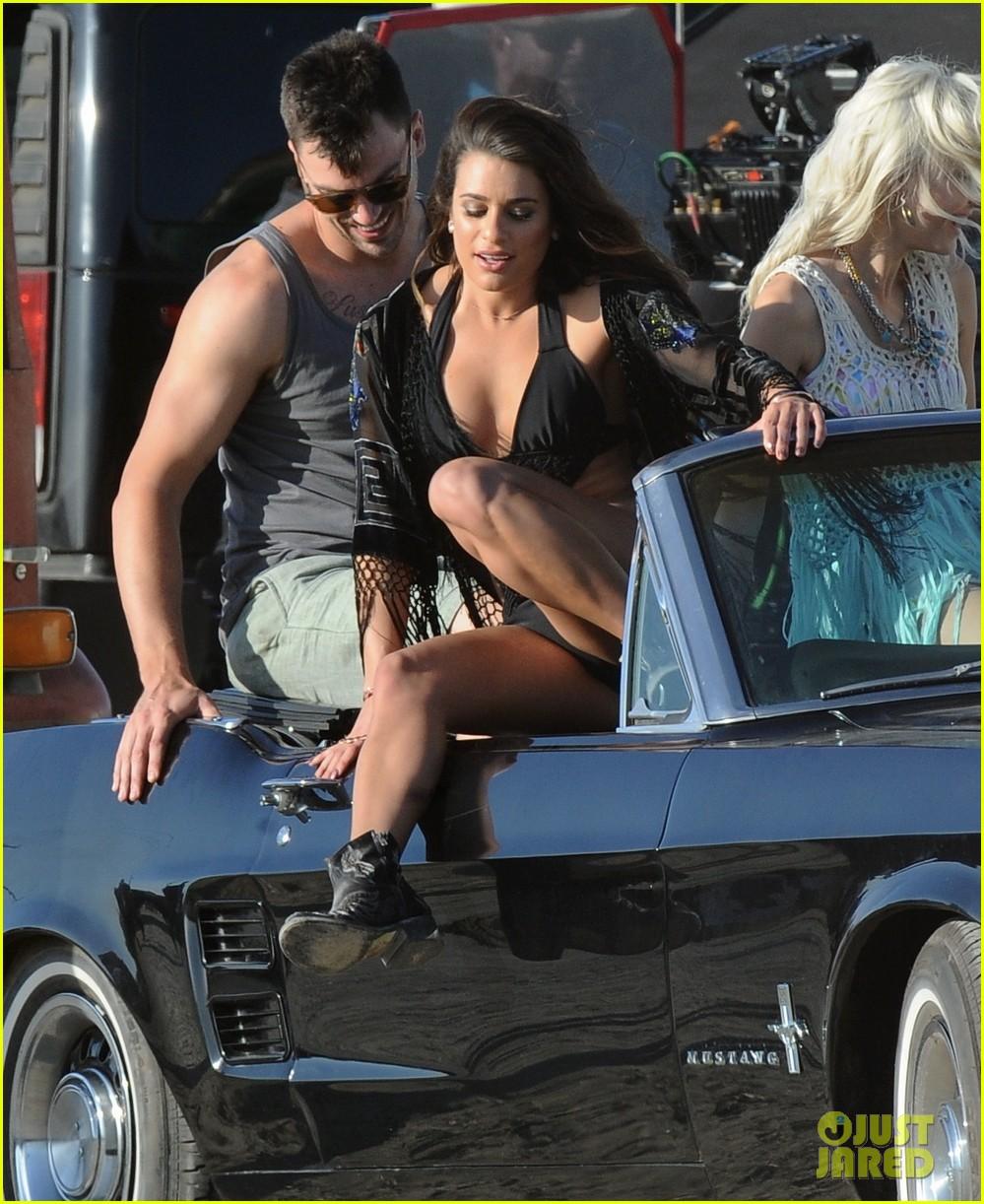 lea michele bikini on my way music video shoot 113095559