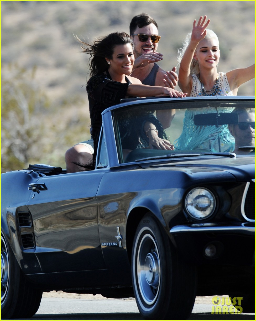 lea michele bikini on my way music video shoot 263095574