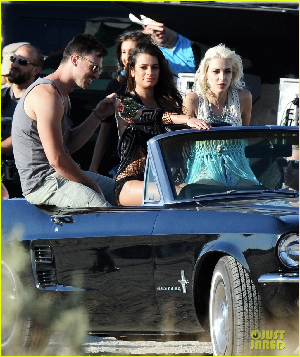 lea michele bikini on my way music video shoot 28
