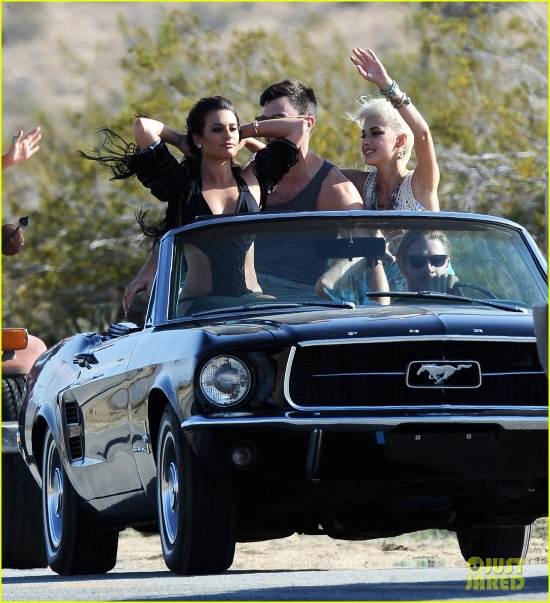 lea michele bikini on my way music video shoot 30
