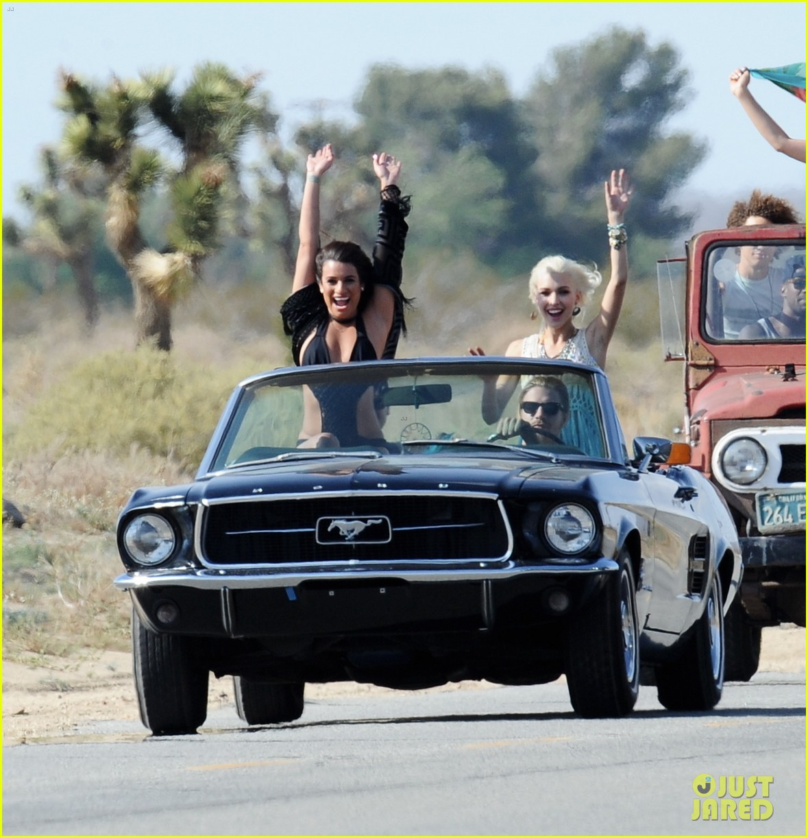 lea michele bikini on my way music video shoot 41
