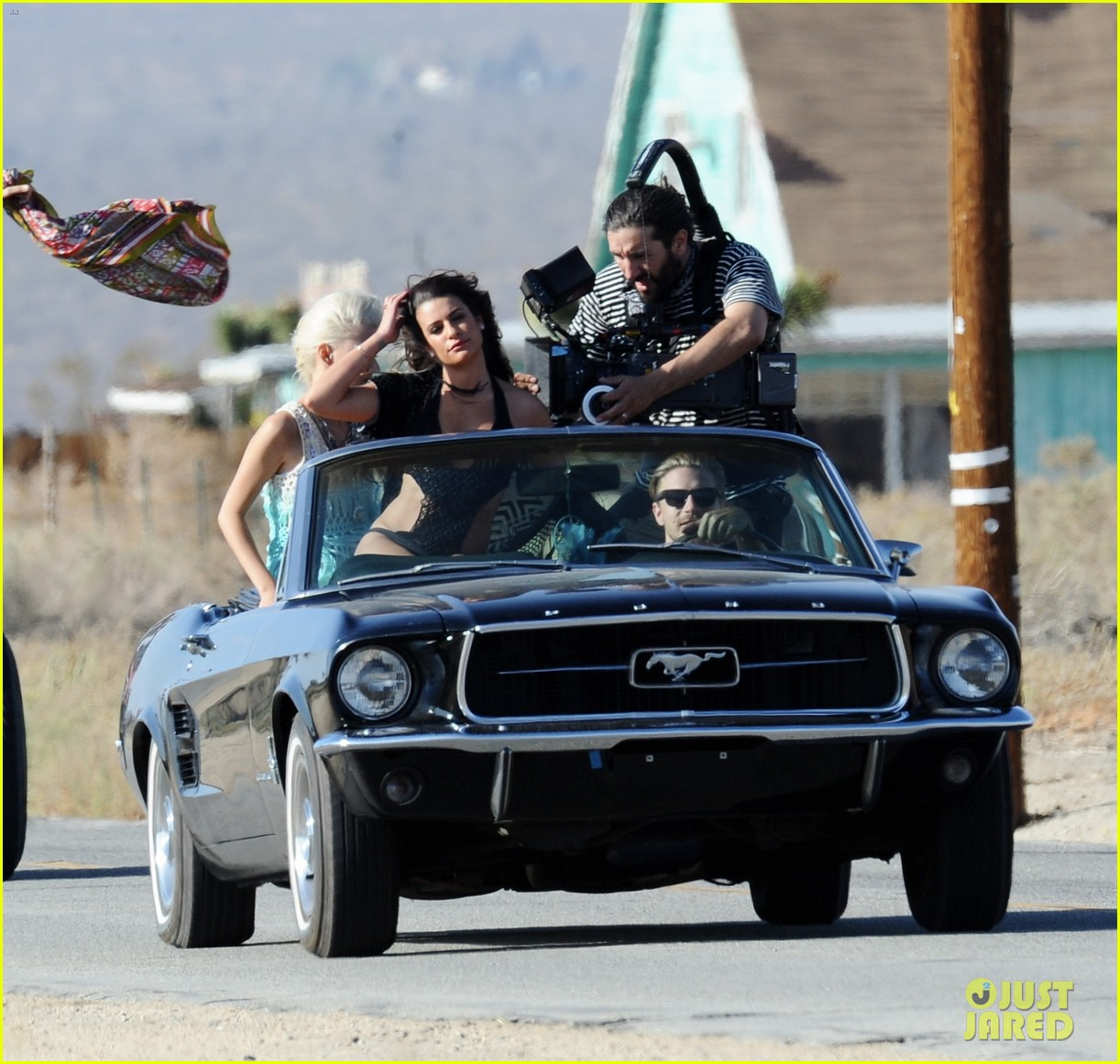 lea michele bikini on my way music video shoot 45