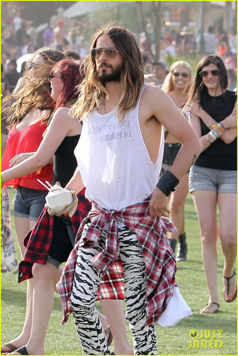 jared leto zebra print pants coachella day two 113090133