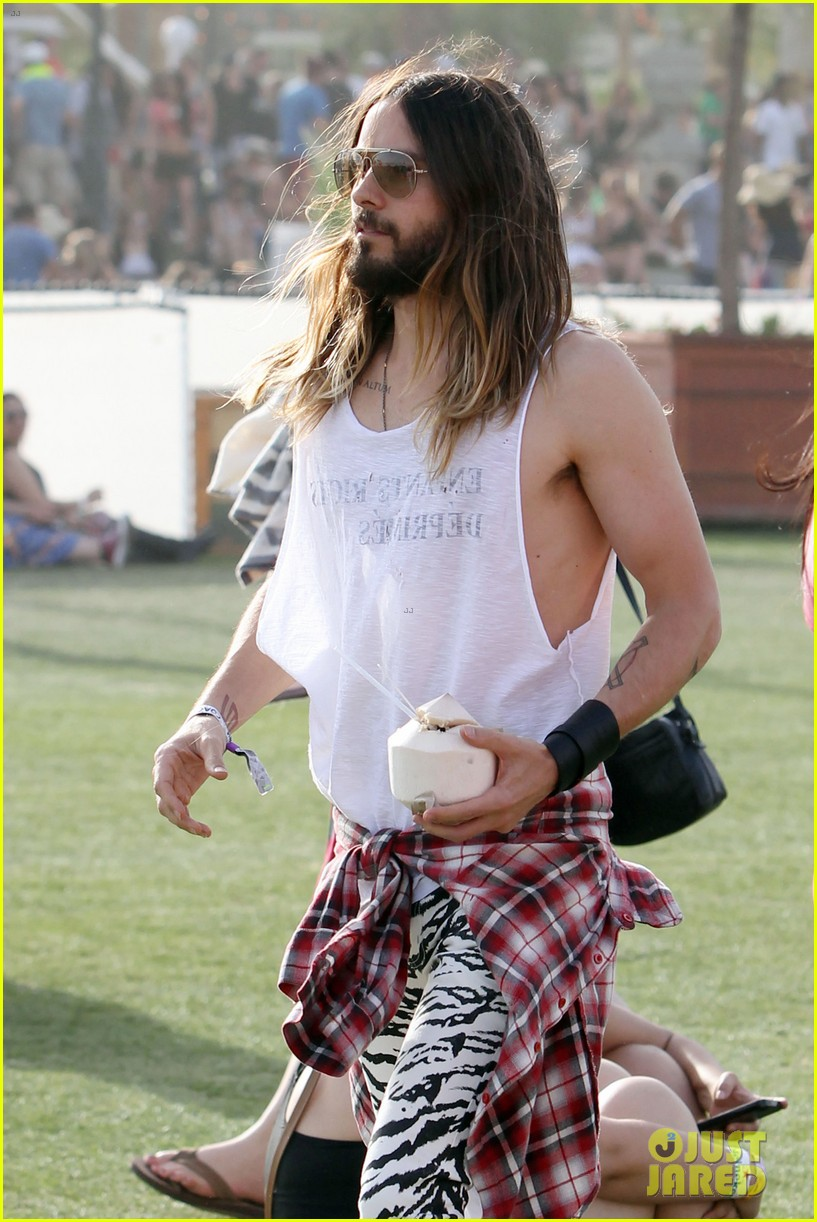 jared leto zebra print pants coachella day two 14