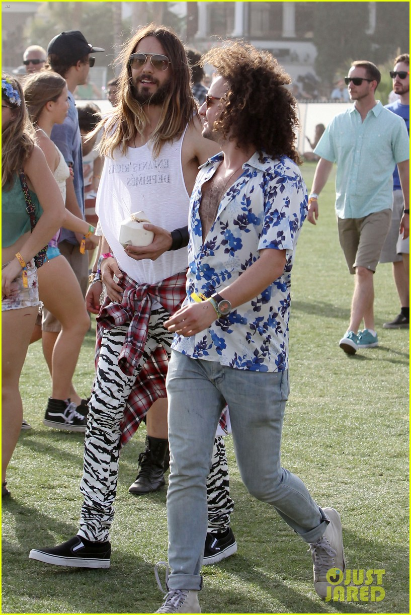 jared leto zebra print pants coachella day two 173090139