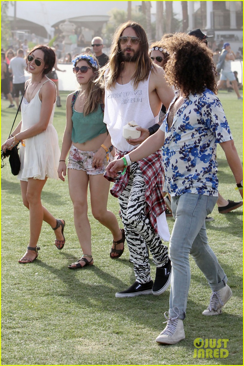 jared leto zebra print pants coachella day two 193090141