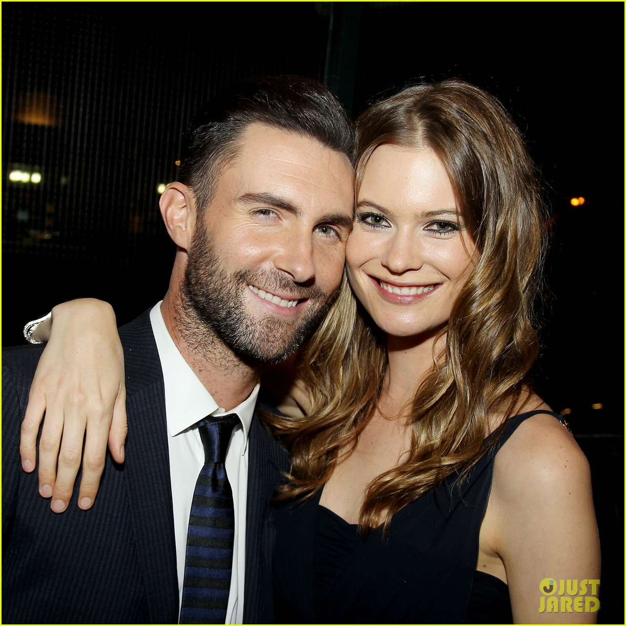 adam levine behati prinsloo party the night away at tribeca 02