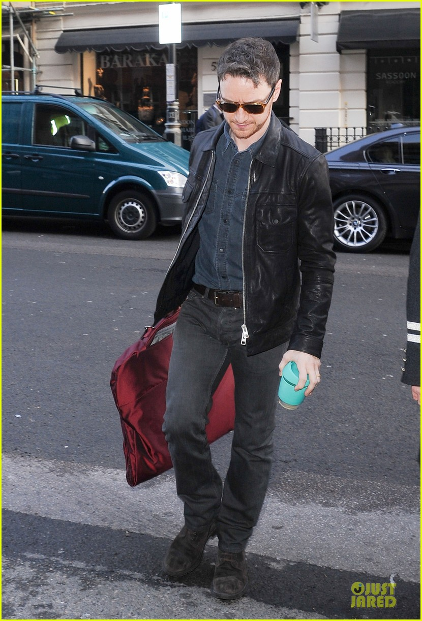 james mcavoy serious swagger in leather 03