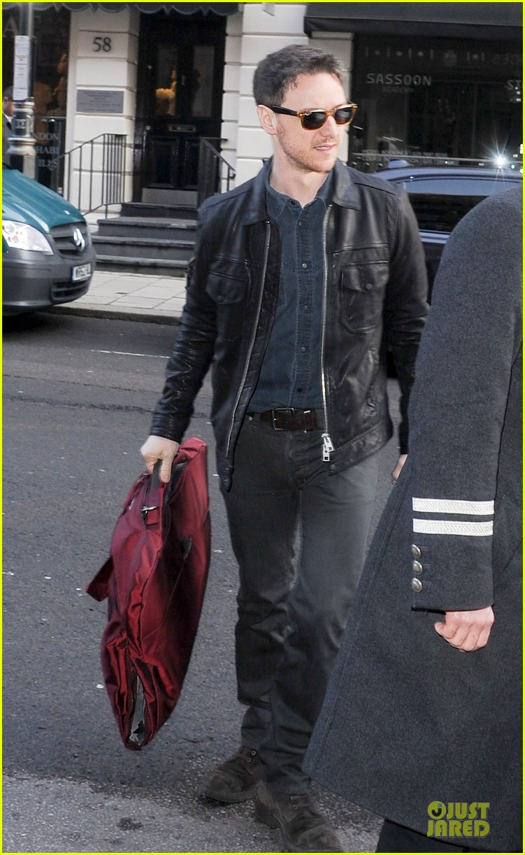 james mcavoy serious swagger in leather 08