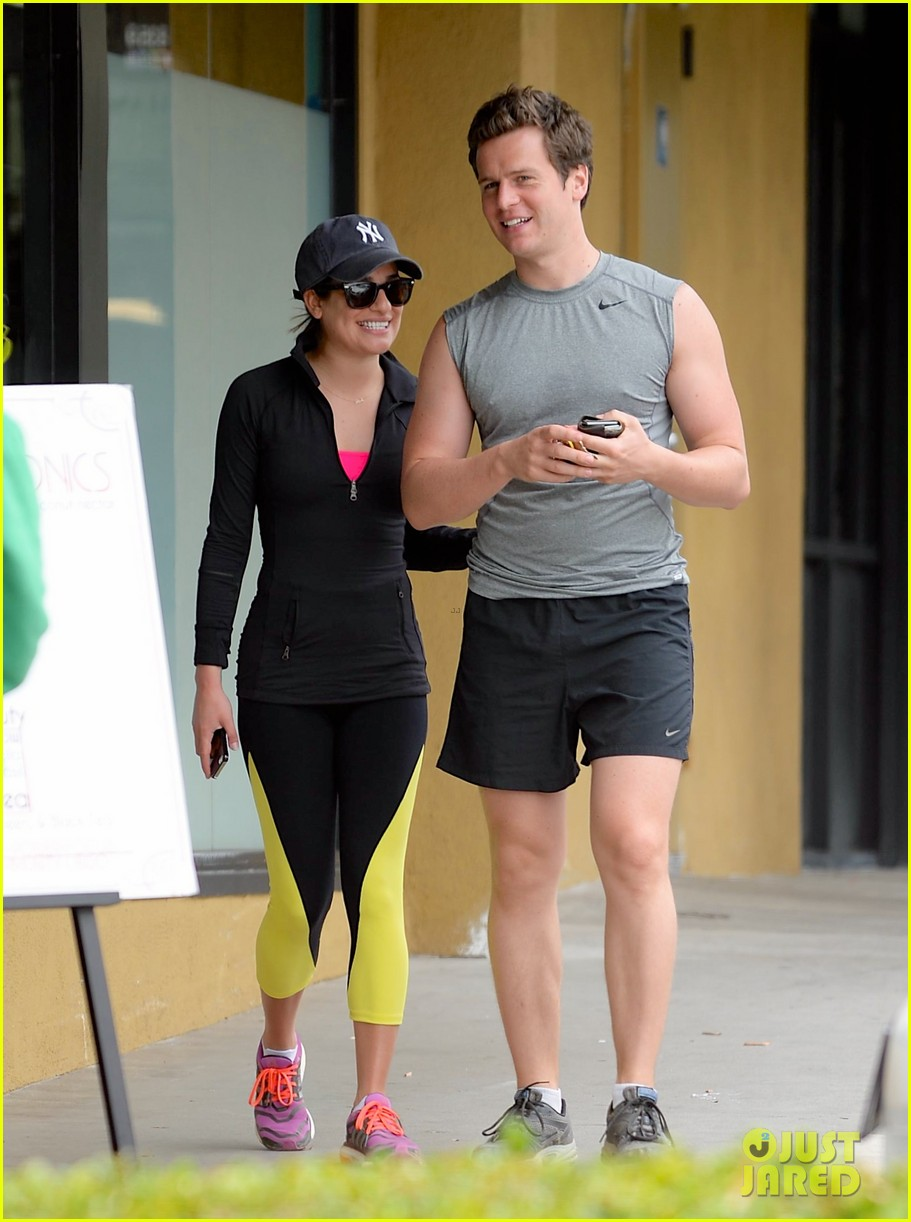lea michele hike with buff bff jonathan groff 013094225