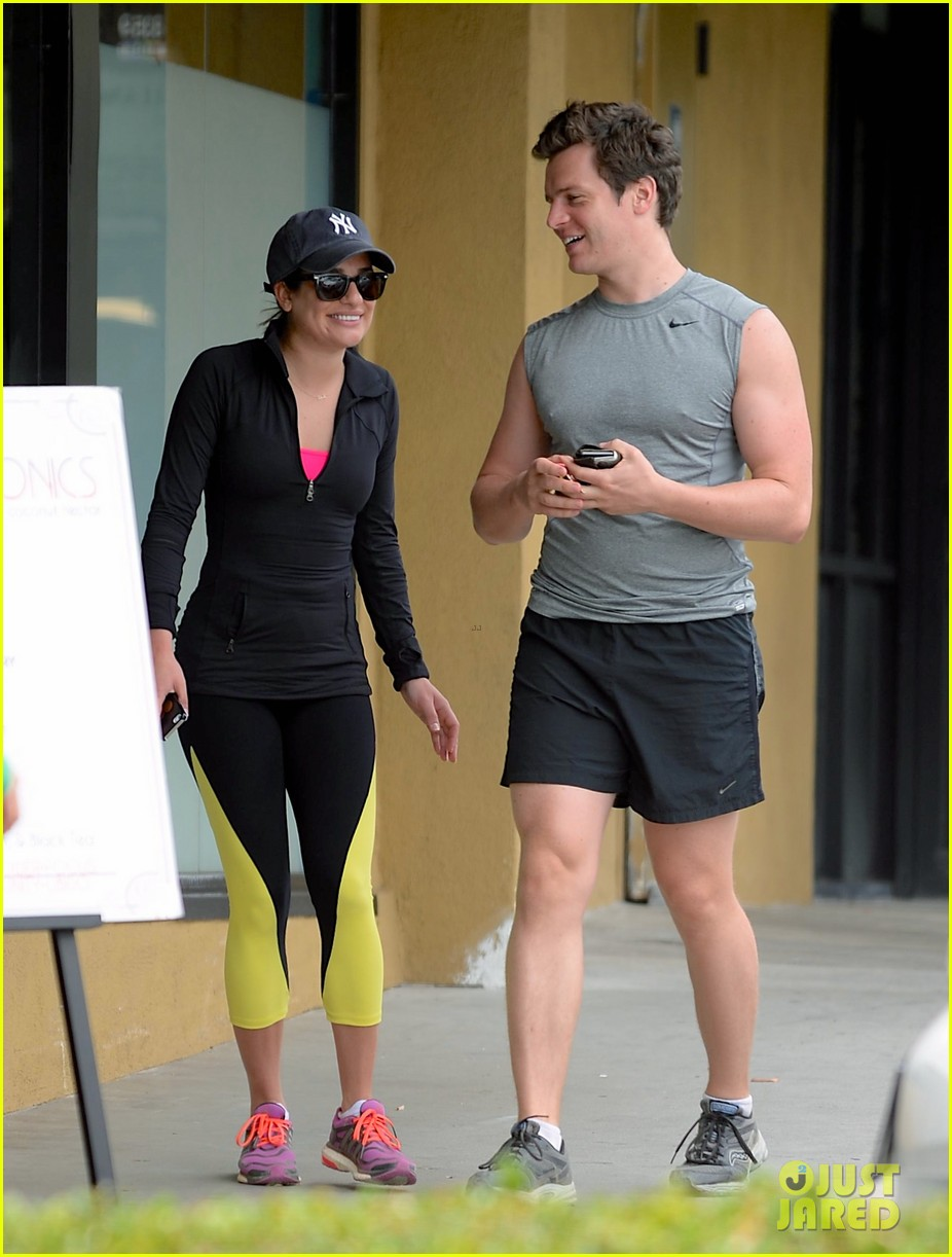 lea michele hike with buff bff jonathan groff 05