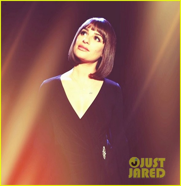 lea michele performs funny girl on stage 01